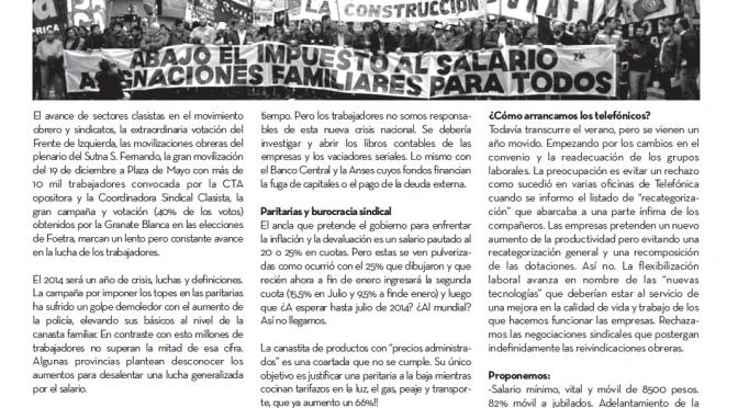 Salió el Boletín N°34 – Por una salida de los trabajadores