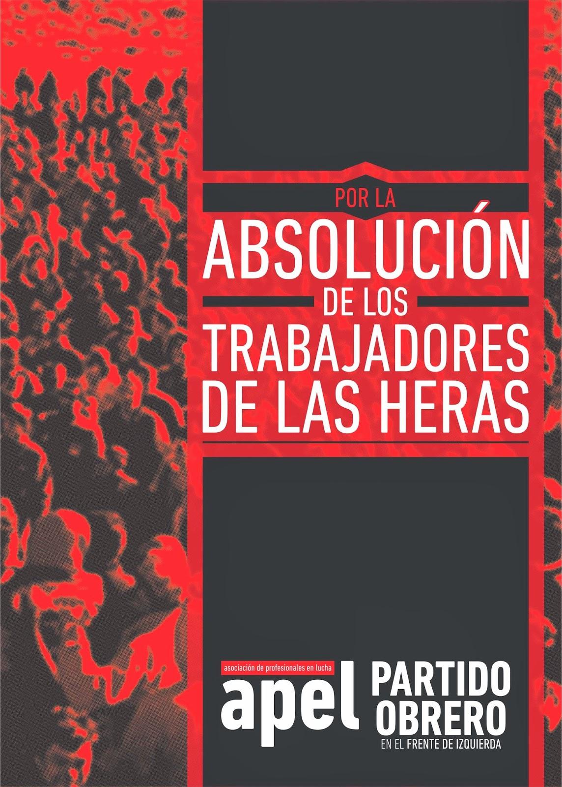 Por la absolución de los trabajadores de Las Heras