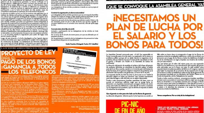 Boletín Naranja Nº39 – Noviembre/Diciembre de 2014