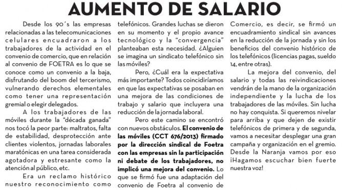 Boletín Naranja de las Celulares Nº1 – Agosto de 2014