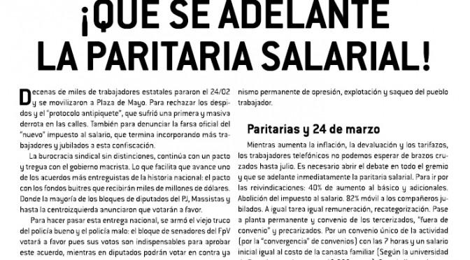 Boletín Naranja Telefónicos – Marzo de 2016