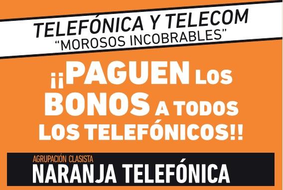 Pago de los Bonos a todos los telefónicos