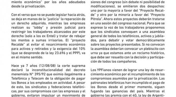 Bonos: Asamblea – Plebiscito  QUE LOS TELEFÓNICOS DECIDAN!!