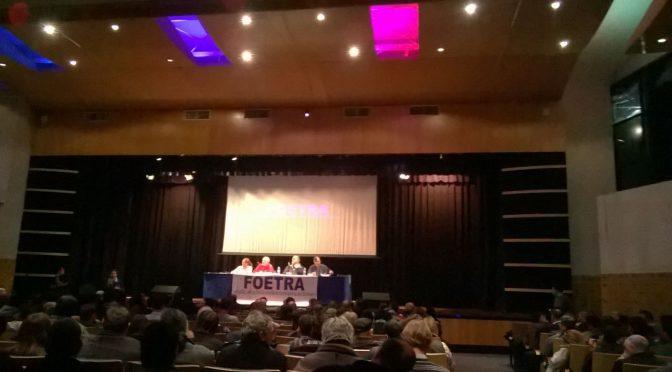 """Plenario de delegados Foetra:  Maniobras para unas paritarias """"responsables"""""""