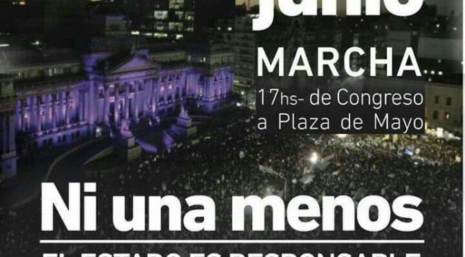 #3J: salimos a las calles para decir #NiUnaMenos #HoyComoAyer #ElEstadoEsResponsable