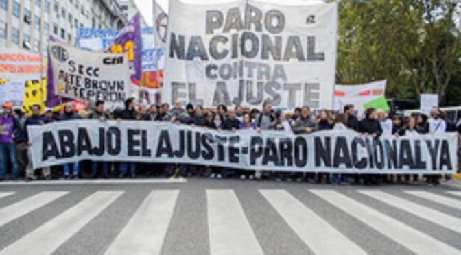 2 de junio marchamos  Por el salario y el trabajo, paro nacional y plan de lucha