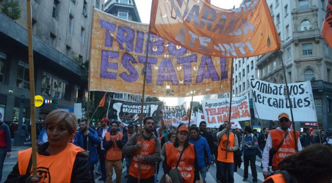 El paro docente-estatal plantea un paro activo y plan de lucha nacional