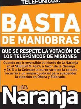 NO A LA INTERVENCIÓN DE LA FOEESITRA PARA GARANTIZAR EL FRAUDE.  QUE SE RESPETE LA DECISIÓN DE LA MAYORÍA.