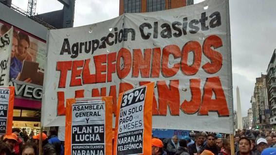 Acto de los sindicatos antiburocráticos en el Ministerio de Trabajo – Viernes 28 – 16h en Leandro N.  Alem 650