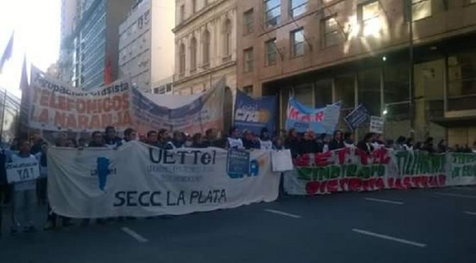 Telefónica:  No a la criminalización de los tercerizados telefónicos   Absolución de los dirigentes de UETTEL