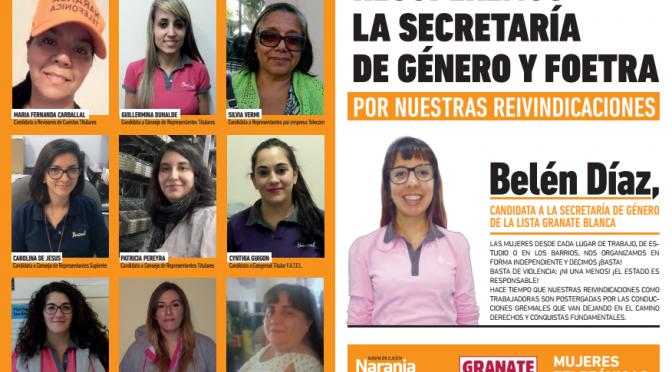 Recuperemos la secretaría de género y Foetra , por nuestras reivindicaciones