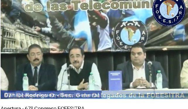 Telefónicos: repudiemos la presencia de Triaca en el Congreso de la Foeesitra