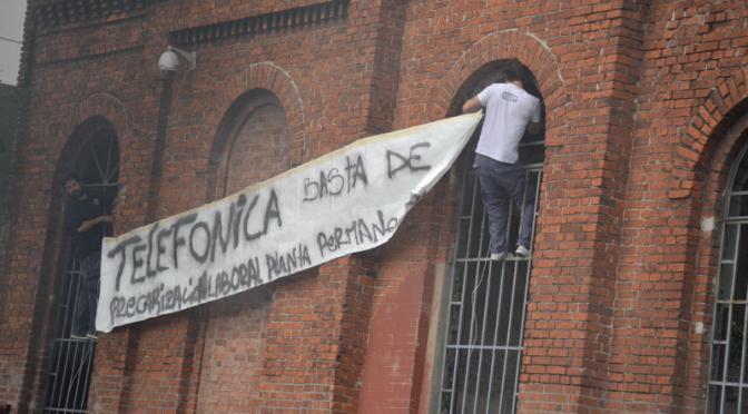 Marcelo Arispe ¡Basta de accidentes y víctimas fatales por la precarizacion laboral! Telefónica es responsable