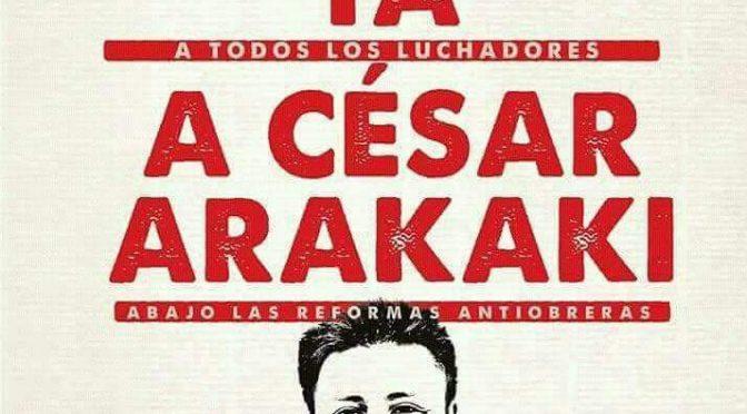 TELEFÓNICOS: PRONUNCIAMIENTO POR LA LIBERTAD DE CESAR ARAKAKI Y TODOS LOS LUCHADORES