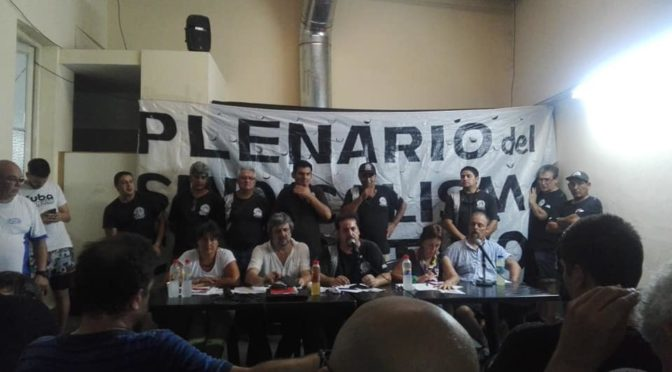 Plenario abierto del sindicalismo combativo define movilización el 14/2