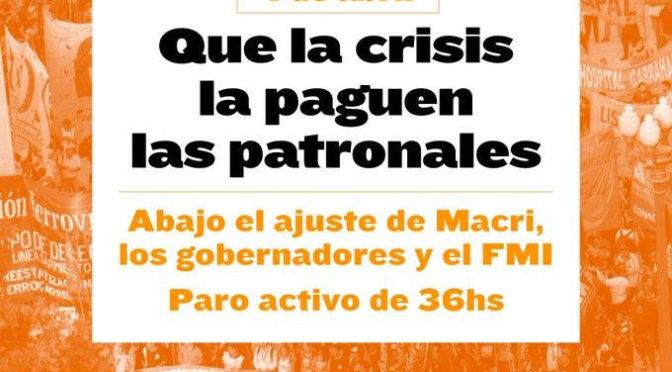 ¡Marchemos con el Sindicalismo Combativo del Obelisco a Plaza de Mayo!