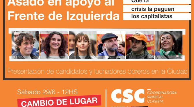 Este Sábado:  Presentacion de candidatos de la CSC-PO caba del Frente de Izquierda